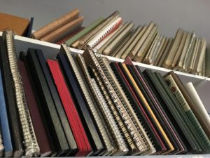 Shelf of Notebooks