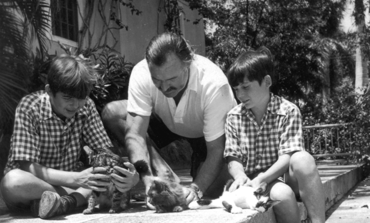 Ernest-Hemingway-with-Children