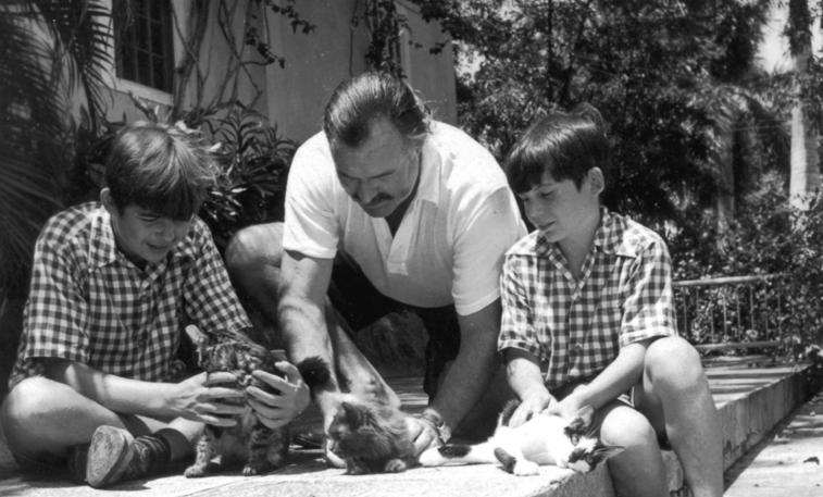 Ernest-Hemingway-with-Children